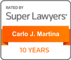 Super Lawyers 10 years Badge
